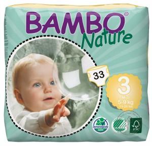 Bambo Детские Эко-подгузники Midi (5-9 кг.), 33 шт.