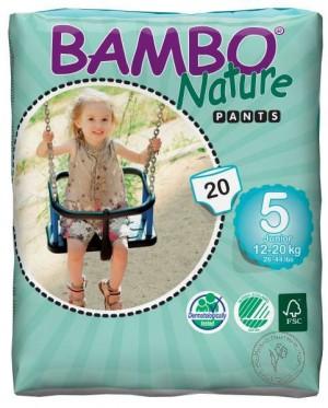 Bambo Детские Эко-подгузники-трусики Junior (12-20 кг.), 20 шт.