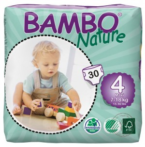 Bambo Детские Эко-подгузники Maxi (7-18 кг.), 30 шт.