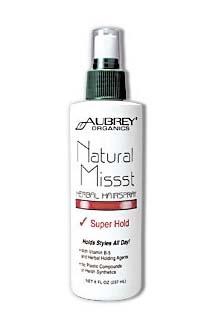 Aubrey Organics Натуральный лак для волос сильной фиксации, 237мл.