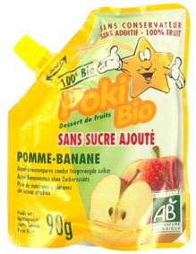 Danival Poki Bio Десерт фруктовый *Яблоко-Банан*, 90 гр.