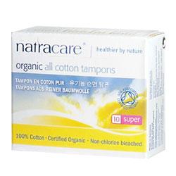 Natracare Тампоны из БИО-хлопка Super без аппликатора, 10шт.